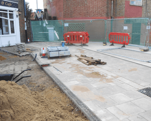 Fellowship paving works July 2020 in progress